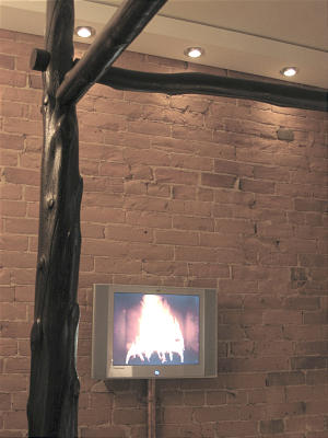 Flatscreen/Fireplace
